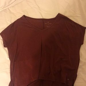 AMERICAN EAGLE soft & sexy maroon t